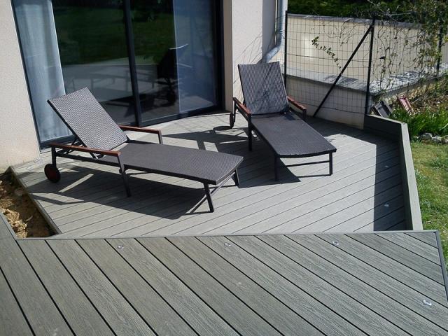 Terrasses composite picardie passion terrasse - Terrasse en composite gris ...